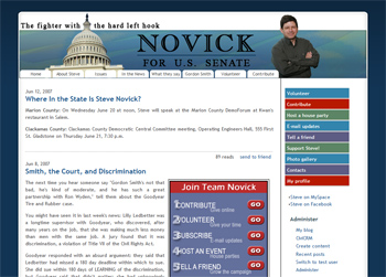 Novick for U.S. Senate screenshot